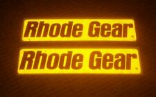 LOT OF 2 RHODE GEAR bmx Bicycles Bike Decal Sticker brand new old REFLECTIVE