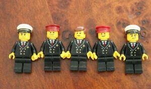 1 x LEGO Minifig Mini Figure City Passenger Plane Pilot - Excel