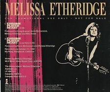 Chrome Plated Heart [Promo Single] by Melissa Etheridge (Cd 1988) [2 Versions]^