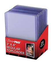 "ULTRA PRO Regular Toploaders 25ct Pack NEW 3 x 4"" Toploader Top Loader Loaders"