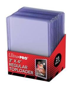 25 Ultra PRO Regular 35pt 3x4 Card Toploaders Topload Holders Toploader Loaders