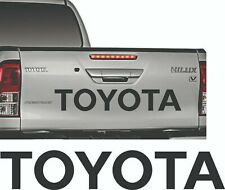 Toyota BLACK sticker Hilux Tailgate rear decal  pick up D4D mk3 kit 2.5 Diesel