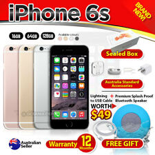 New Sealed APPLE iPhone 6S 16 64 128GB Grey Rose Gold Silver Factory Unlocked