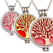 Aromatherapy Necklace Stainless Steel Pendant Necklace Oil Diffuser Tree Of Life