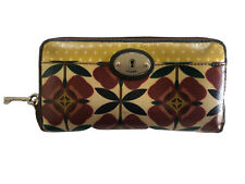 FOSSIL Vintage Key-Per Clutch Purse Oversized Wallet