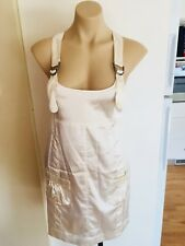 BNWT Ladies LOLITA Dress Size 8 White Pinafore Satin Mini Short Cocktail Party