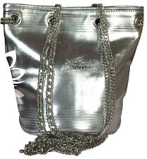 Jean Paul Gaultier Metallic Silver Bucket Tote Bag with Chain Straps