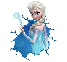 Frozen Wall Decal 3D Art Stickers Vinyl Room Bedroom Mural Kids Nursery 9
