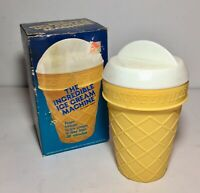 VINTAGE 1986 THE INCREDIBLE ICE CREAM MACHINE Excellent w/INSTRUCTIONS RECIPES