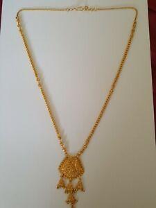 Stunning 22ct/22k gold necklace /mala 32.4g Hallmarked