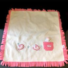 Zapf Creation Pink Fleece Blanket Fringe Edge for Baby Annabell