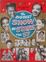 FATS DOMINO / CHUCK BERRY 1957 BIGGEST SHOW OF STARS TOUR PROGRAM BOOK / EX 2 NM
