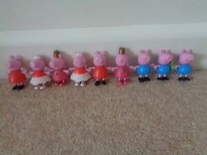 peppa pig figures x 9 fixed arms and legs