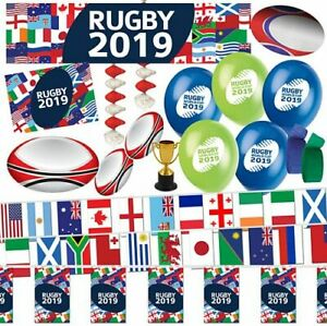 Rugby 2019 Decorations Party Pack - Banners Bunting Balloons