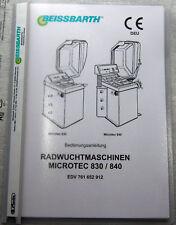 Bedienungsanleitung Beissbarth Microtec 830/840