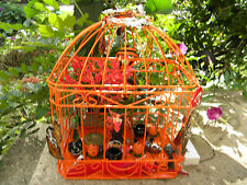 Halloween light up Fairy and Cauldrons Hallows Eve Bird Cage. *Two AA batteries