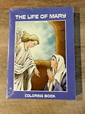 """Childrens' Catholic Coloring Books """"THE LIFE OF MARY""""  PKG of 12 bks, NEW in PKG"""