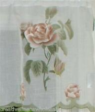 Pink Blossom Kitchen Curtain Valance BEIGE 1PC 8292E Creative Linens FREE S&H