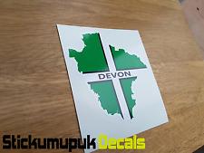 Map of Devon Car Sticker ,Car Van Windows printed colour Decal Car or Laptop