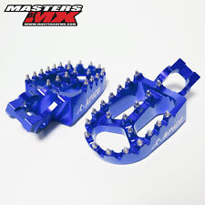 APICO XTREME WIDE MOTOCROSS FOOTPEGS FOOTRESTS BLUE - HUSQVARNA FC350 2016