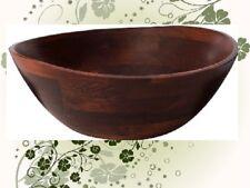 Lipper Wavy Rim 13 x 12.5  x 5  Cherry Wood All Purpose Bowl 294 MINOR DEFECTS
