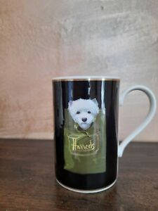 Harrods Knightsbridge Fine Stoneware Black Mug - Westie Dog.