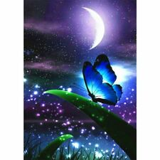 Moon Butterfly 5D Full Diamond Painting Embroidery DIY Cross Stitch Home Decor