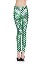 Mermaid Green Leggings Shiney Scales Music Leg
