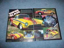 """1957 Chevy Corvette Super Gas Drag Car Vintage Article """"Super 'Glass"""""""
