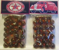 2 Bags Of Texaco Gasoline Filling Stations Promo Marbles