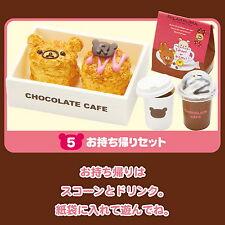 Re-ment Sanrio Miniature SAN-X Rilakkuma Cafe Cake Chocolate rement RARE SET 05