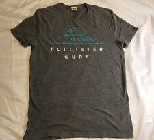 Hollister Mens Gray Small Short Sleeve Logo Surf T Shirt