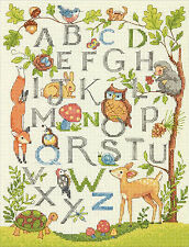 Cross Stitch Kit ~ Dimensions Woodland Alphabet Animal ABC Sampler #70-35343
