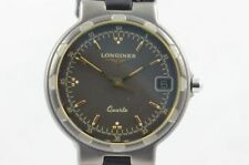 Longines Conquest Men's Watch Quartz Titan / Gold 4020 Up-To-Date RAR Timepiece