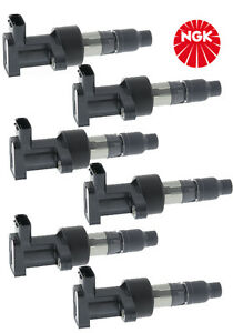 NGK set of 6 Ignition Coils JAGUAR S TYPE X TYPE XF XJ6