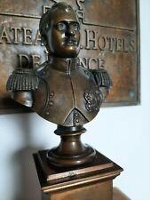 sculpture statue buste de napoléon en bronze sur socle bust of napoleon (+-5kg)
