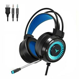 3.5mm Gaming Headset MIC LED Headphones for PC Laptop PS4 Slim PS5 Xbox One S
