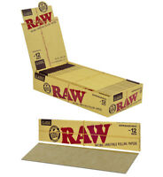 """1 PACK AUTHENTIC RAW SUPERNATURAL 12"""" (FOOT LONG) UNBLEACHED ROLLING PAPERS"""