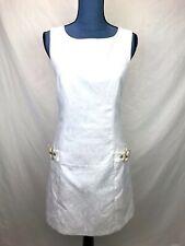 Laundry Shelli Segal Women's Size 4 White Dress Mod Sleeveless Sheath Dress