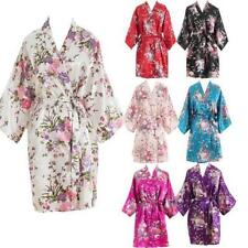 Women Short floral Robe Dressing Gown Bridal Wedding Bride Bridesmaid Kimono #4