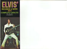 ELVIS PRESLEY ELVIS' RECORDS & TAPES 1973 COMPLETE CATALOG RCA OUT OF PRINT OOP