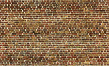 @ 6 Sheets Self Adhesive Paper Brick wall 21x29cm Scale O Code 3D772