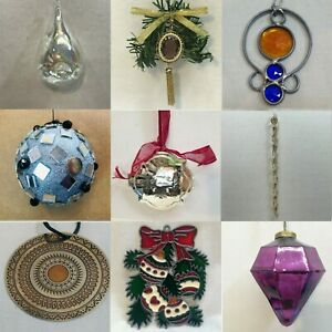 G83 GEOMETRIC SHAPED ORNAMENTS each priced separately MANY CHOICES Round Square
