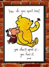 Winnie the Pooh Piglet Quote Print, love,nursery decor,baby shower,inspirational