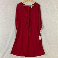 Vicky Tiel Womens Dress Red Long Sleeve Size XL