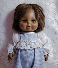 "Vintage Horsman Doll African American 1970s Brown 12"" 1974 Plastic Body"