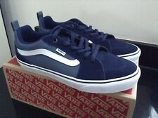 VANS BLUE FILMORE SUEDE TRAINERS. SIZE 9. BRAND NEW IN BOX