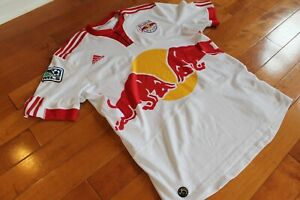 Adidas New York Red Bulls Jersey Size Large? White MLS Soccer Climacool