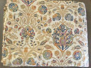 Ralph Lauren Marrakesh Rug Jacobean Floral Cotton Sateen Full / Queen Duvet *EXC
