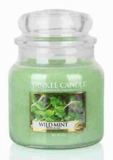 NEW Yankee Candle Wild Mint Medium Jar 411g Rare Retired Scent 90 hour Burn Time